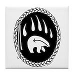 Native Art Gifts T-shirt Bear Claw Tile Coaster
