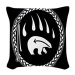 Tribal Bear Claw Woven Throw Pillow