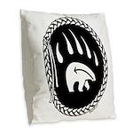 Native Art Gifts T-shirt Bear Claw Burlap Throw Pi