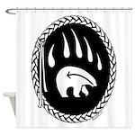 Native Art Gifts T-shirt Bear Claw Shower Curtain