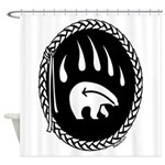 Tribal Bear Claw Shower Curtain