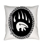 Native Art Gifts T-shirt Bear Claw Everyday Pillow