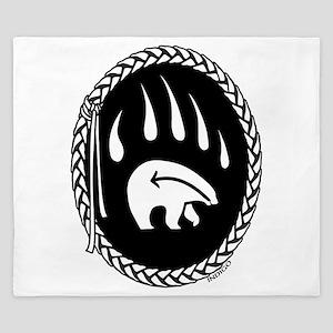 Native Art Gifts T-shirt Bear Claw King Duvet