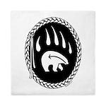 Native Art Gifts T-shirt Bear Claw Queen Duvet