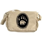 Native Art Gifts T-shirt Bear Claw Messenger Bag