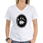 Tribal Bear Claw Women's V-Neck T-Shirt