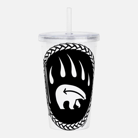 Native Art Gifts T-shirt Bear Claw Acrylic Double-