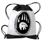 Native Art Gifts T-shirt Bear Claw Drawstring Bag