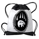 Tribal Bear Claw Drawstring Bag