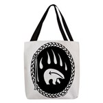 Native Art Gifts T-shirt Bear Claw Polyester Tote