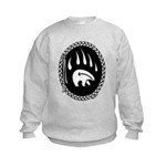 Tribal Bear Claw Kids Sweatshirt