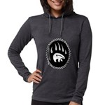 Tribal Bear Claw Womens Hooded Shirt