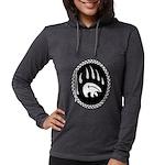 Tribal Bear Claw Womens Hooded Shirt