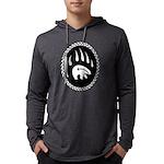 Tribal Bear Claw Mens Hooded Long Sleeve T-Shirt