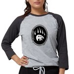 Tribal Bear Claw Womens Baseball Tee