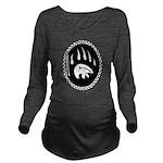 Tribal Bear Claw Long Sleeve Maternity T-Shirt