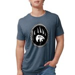 Tribal Bear Claw Mens Tri-blend T-Shirt