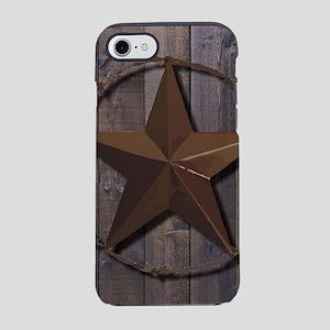 western barnwood texas star iPhone 8/7 Tough Case