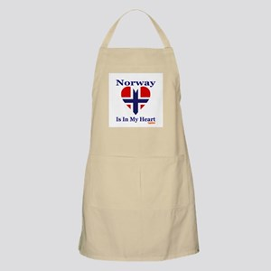 Norway - Heart BBQ Apron
