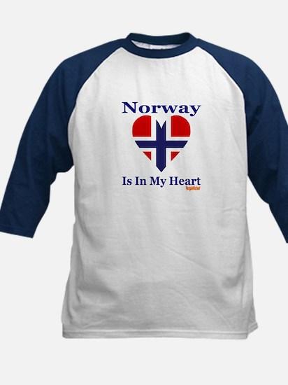Norway - Heart Kids Baseball Jersey