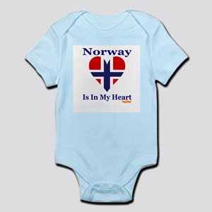 Norway - Heart Infant Bodysuit