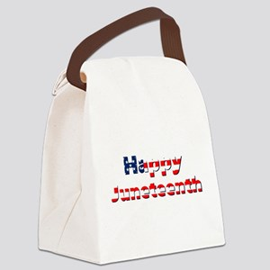 happy juneteenth flag Canvas Lunch Bag