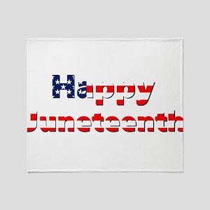 happy juneteenth flag Throw Blanket