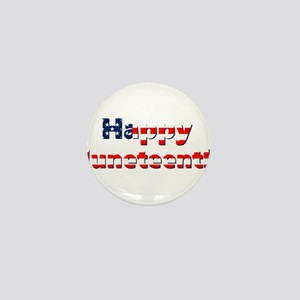 happy juneteenth flag Mini Button