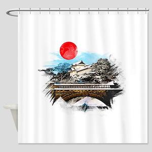 Japanese Palace Shower Curtain