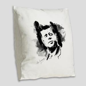 JFK Burlap Throw Pillow
