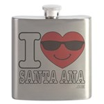 I Love Santa Ana Flask
