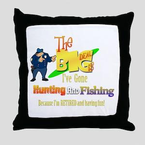 Top Cop's New Deal.' Throw Pillow
