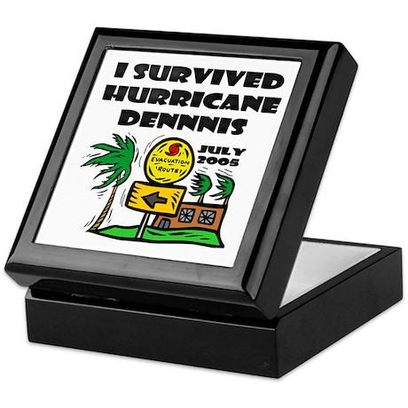 Hurricane Dennis Evacuation Keepsake Box