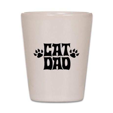 Cat Dad Shot Glass