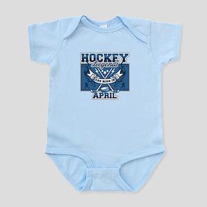 Hockey Legends are Born in April Infant Bodysuit