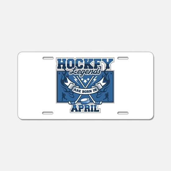 Hockey Legends are Born in Aluminum License Plate