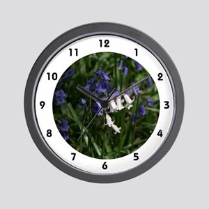 White N Blue Wall Clock