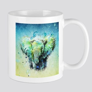 watercolor elephant Stainless Steel Travel Mugs