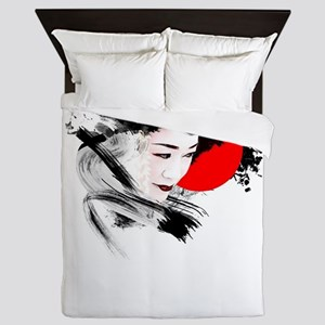 Japan Geisha Queen Duvet
