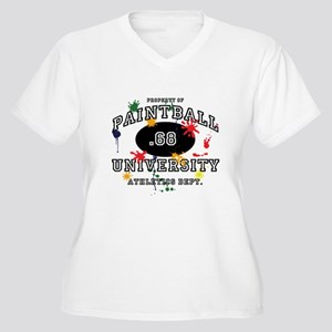 Paintball University Women's Plus Size V-Neck T-Sh