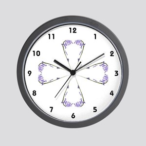 Bluebell Cross Motif Wall Clock