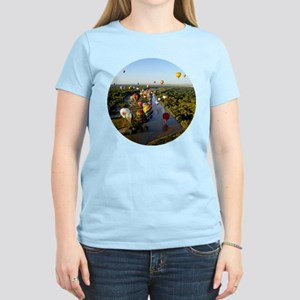 Balloon River Flight White T-Shirt