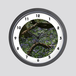 Bluebell Carpet Wall Clock