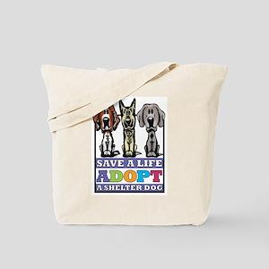 Adopt a Shelter Dog Tote Bag