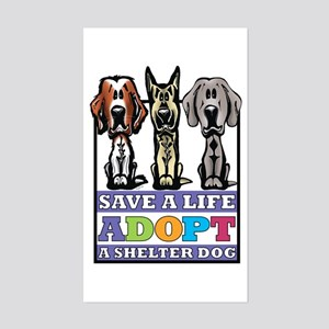 Adopt a Shelter Dog Rectangle Sticker
