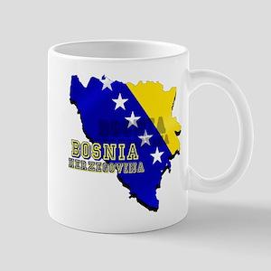 Flag Map of Bosnia Mug