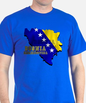 Flag Map of Bosnia T-Shirt