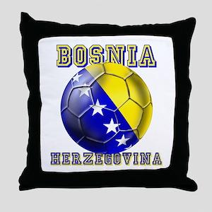 Bosnian Football Throw Pillow