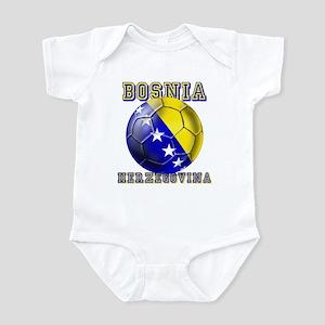 Bosnian Football Infant Bodysuit