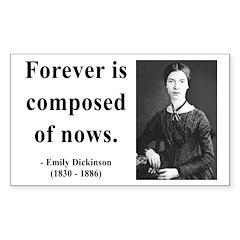 Emily Dickinson 3 Rectangle Decal